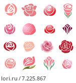 Элементы дизайна розы. Стоковая иллюстрация, иллюстратор Миронова Анастасия / Фотобанк Лори