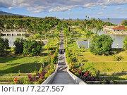 Купить «Panorama of Tirtagangga Taman Ujung water palace on Bali, Indonesia», фото № 7227567, снято 17 декабря 2018 г. (c) BE&W Photo / Фотобанк Лори