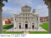 Купить «Front of the Duomo in the Piazza Dei Miracoli. Europe, Italy, Pisa.», фото № 7227767, снято 16 января 2019 г. (c) BE&W Photo / Фотобанк Лори