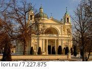 Купить «Poland, Warsaw, Wilanow, St. Anne Church», фото № 7227875, снято 22 августа 2019 г. (c) BE&W Photo / Фотобанк Лори