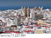 Cadiz, View from Torre Tavira, Iglesia de San Antonio, Andalusia, Spain. Стоковое фото, агентство BE&W Photo / Фотобанк Лори