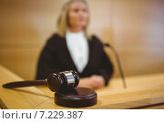 Купить «Serious judge with a gavel wearing robes», фото № 7229387, снято 7 августа 2014 г. (c) Wavebreak Media / Фотобанк Лори