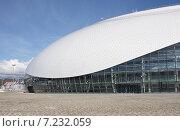 """Купить «Ледовый дворец """"Большой"""", Олимпийский парк, Сочи», фото № 7232059, снято 3 апреля 2015 г. (c) Юлия Ухина / Фотобанк Лори"""
