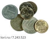 Купить «Российские монеты», фото № 7243523, снято 5 апреля 2015 г. (c) Анна Зеленская / Фотобанк Лори