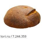 Круглый хлеб на белом фоне. Стоковое фото, фотограф Николай Полищук / Фотобанк Лори