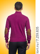 Купить «Male sweater isolated on the white», фото № 7259835, снято 12 сентября 2012 г. (c) Elnur / Фотобанк Лори
