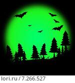 Halloween Tree Represents Trick Or Treat And Autumn. Стоковая иллюстрация, иллюстратор Stuart Miles / Фотобанк Лори