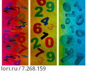 Education Numbers Shows Count Digits And Abstract. Стоковая иллюстрация, иллюстратор Stuart Miles / Фотобанк Лори