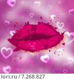 Beauty Hearts Indicates Human Lips And Face. Стоковая иллюстрация, иллюстратор Stuart Miles / Фотобанк Лори