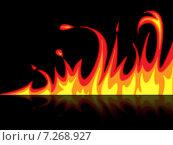 Fire Reflection Represents Mirrored Blazing And Raging. Стоковая иллюстрация, иллюстратор Stuart Miles / Фотобанк Лори