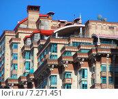 Купить «Фрагмент здания жилого комплекса «Алые Паруса». Авиационная улица, 79. Москва», эксклюзивное фото № 7271451, снято 14 марта 2015 г. (c) lana1501 / Фотобанк Лори