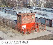 Купить «Гаражи на Новощукинской улице в Москве», эксклюзивное фото № 7271463, снято 14 марта 2015 г. (c) lana1501 / Фотобанк Лори