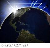 Global Planets Shows Solar System And Cosmos. Стоковая иллюстрация, иллюстратор Stuart Miles / Фотобанк Лори