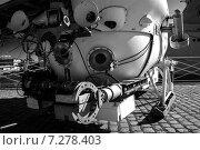 Купить «Батискаф в музее Мирового Океана в Калининграде», фото № 7278403, снято 9 июля 2014 г. (c) Yuriy  Barbaruk / Фотобанк Лори