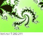 Купить «Декоративная фрактальная спираль в зелёных тонах», иллюстрация № 7282211 (c) Astronira / Фотобанк Лори