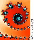 Купить «Декоративная фрактальная спираль в красных  тонах», иллюстрация № 7282291 (c) Astronira / Фотобанк Лори