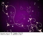 Floral And Bubbles Background Means Decorative Stem And Leaves. Стоковая иллюстрация, иллюстратор Stuart Miles / Фотобанк Лори