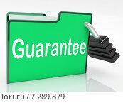 Купить «Guarantee Security Shows Private Privacy And Warranteed», фото № 7289879, снято 25 февраля 2020 г. (c) Stuart Miles / Фотобанк Лори