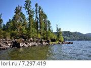 Купить «Вид на Телецкое озеро», фото № 7297419, снято 4 августа 2014 г. (c) Александр Карпенко / Фотобанк Лори