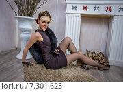 Купить «Элегантная женщина», фото № 7301623, снято 1 ноября 2014 г. (c) Наталья Степченкова / Фотобанк Лори