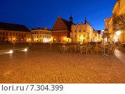 Купить «Ночной Грайфсвальд. Германия», фото № 7304399, снято 3 апреля 2015 г. (c) Сергей Куров / Фотобанк Лори