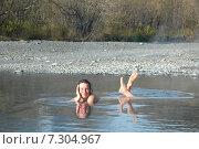 Малкинские термальные источники на Камчатке. Стоковое фото, фотограф Olga Far / Фотобанк Лори