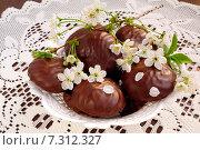 Купить «Зефир в шоколаде», эксклюзивное фото № 7312327, снято 25 апреля 2015 г. (c) Blekcat / Фотобанк Лори