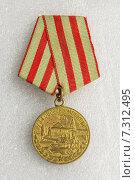 Медаль «За оборону Москвы» Стоковое фото, фотограф Станислав Занегин / Фотобанк Лори