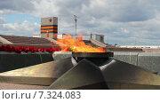 Самара. Мемориальный комплекс и Вечный огонь на площади Славы. Стоковое видео, видеограф FotograFF / Фотобанк Лори