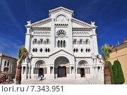 Купить «St. Nicholas Cathedral, Monaco Cathedral, Monaco-Ville, Old Town, Le Rocher (The Rock), Monaco, Cote d'Azur, Europe», фото № 7343951, снято 18 июня 2019 г. (c) BE&W Photo / Фотобанк Лори