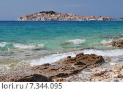 Купить «Croatia, Primosten, Panorama of Primosten», фото № 7344095, снято 16 декабря 2019 г. (c) BE&W Photo / Фотобанк Лори