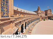 Купить «Plaza de Espana (Place d' Espagne), built between 1914 and 1928 by the architect Anibal Gonzalez, Sevilla, Andalucia, Spain», фото № 7344275, снято 27 марта 2019 г. (c) BE&W Photo / Фотобанк Лори
