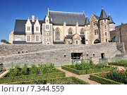 The 15th-century chapel Chateau d'Angers. Is a castle in the city of Angers in the Loire Valley in the département of Maine-et-Loire in France. Стоковое фото, агентство BE&W Photo / Фотобанк Лори