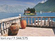 Купить «Monastery on the island in Perast Montenegro», фото № 7344575, снято 25 марта 2019 г. (c) BE&W Photo / Фотобанк Лори