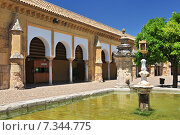 Great Mosque of Cordoba, seen from the Patio de los Naranjos. Andalusia, Spain. Стоковое фото, агентство BE&W Photo / Фотобанк Лори