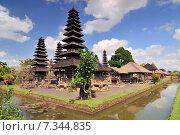 Купить «Traditional balinese hindu Temple Taman Ayun in Mengwi. Bali, Indonesia», фото № 7344835, снято 17 декабря 2018 г. (c) BE&W Photo / Фотобанк Лори