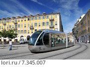 Tramway de Nice, Nice, South of France. Стоковое фото, агентство BE&W Photo / Фотобанк Лори