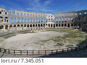 Croatia, Pula, The Pula Arena is the name of the amphitheatre located in Pula, Croatia. Стоковое фото, агентство BE&W Photo / Фотобанк Лори