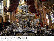 Купить «Tomb of John of Nepomuk in St Vitus Cathedral», фото № 7345531, снято 19 февраля 2018 г. (c) BE&W Photo / Фотобанк Лори