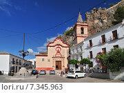 Church of Santa María de la Mesa in the White Village of Zahara de la Sierra Cádiz Andalusia Spain. Редакционное фото, агентство BE&W Photo / Фотобанк Лори