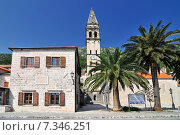 Купить «Saint Nikola Church in Perast Kotor harbor Montenegro.», фото № 7346251, снято 23 марта 2019 г. (c) BE&W Photo / Фотобанк Лори