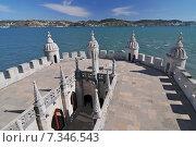 Купить «Lisbon, Belém Tower (Torre de Belém) or the Tower of St Vincent – PortugalPortugal, Lisbon, Belem Tower», фото № 7346543, снято 22 апреля 2019 г. (c) BE&W Photo / Фотобанк Лори