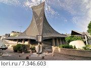 Sainte Jeanne d'Arc church Rouen. Normandy France. Редакционное фото, агентство BE&W Photo / Фотобанк Лори