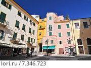 San Remo, historic district of harbour town on the Ligurian coast. Riviera di Ponente, Liguria. Стоковое фото, агентство BE&W Photo / Фотобанк Лори