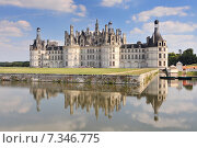 Купить «Chateau de Chambord royal medieval french castle. Loire Valley France Europe. Unesco heritage site.», фото № 7346775, снято 15 августа 2018 г. (c) BE&W Photo / Фотобанк Лори