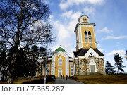 Купить «Керимяки. Финляндия. Самая большая христианская церковь, построенная из дерева. 1848», фото № 7365287, снято 25 апреля 2015 г. (c) Владимир Кошарев / Фотобанк Лори