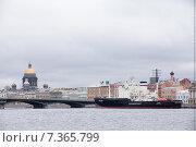 """Ледокол """"Мудьюг"""" (2015 год). Редакционное фото, фотограф Михаил Серов / Фотобанк Лори"""