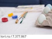 Купить «Eggs painted for easter sunday», фото № 7377867, снято 23 января 2015 г. (c) Wavebreak Media / Фотобанк Лори