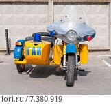 Купить «Старый милицейский ретро мотоцикл», фото № 7380919, снято 27 апреля 2015 г. (c) Рожков Юрий / Фотобанк Лори