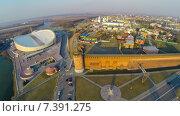 Купить «Стена Коломенского кремля, снятая с квадрокоптера, г.Коломна», фото № 7391275, снято 20 января 2020 г. (c) Андрей Родионов / Фотобанк Лори